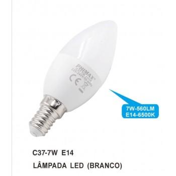 LAMPADA LED C37 7W 6500K E14